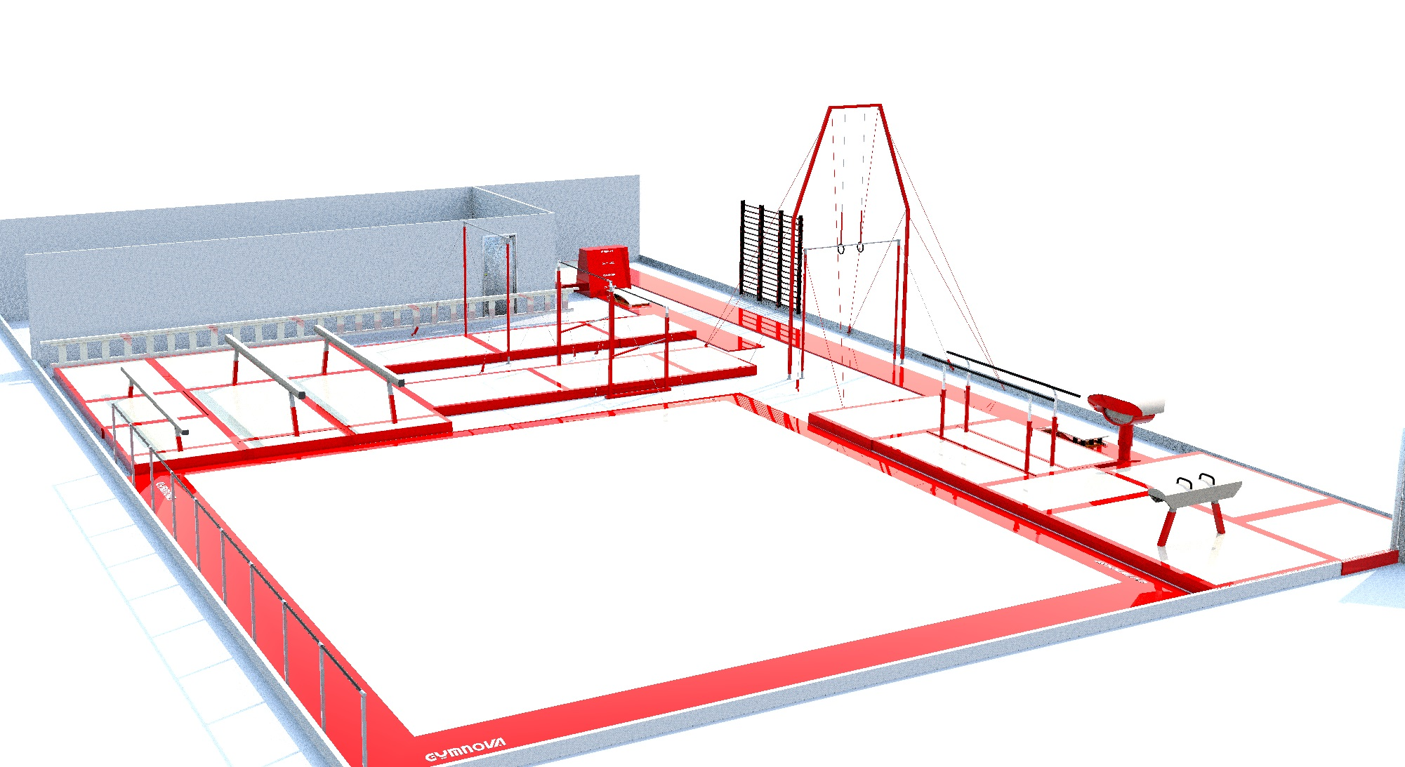 Floor plan for new gym